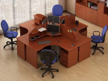 Офисные столы Атрибут комплект 02
